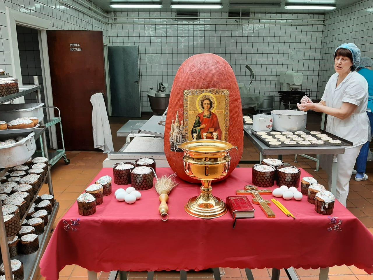 Освящение пасхальной продукции на АВТОВАЗе